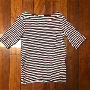 Zara Striped Boatneck Top
